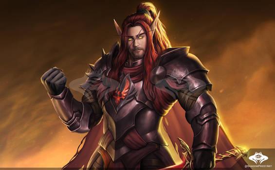 ...Commission: Blood Elf Blood Knight...