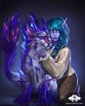 ...Commission: Void Elf Huntress...