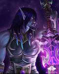 ...Commission:  Void Elf Swordsman...