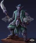 ...Commission: Night Elf Lancer...