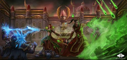 ...Commission: Blood Elf Manor Battle...
