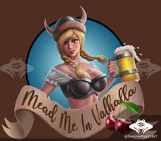 ...Commission: Viking Maid Label...