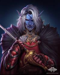...Commission: Night Elf Swordsman...