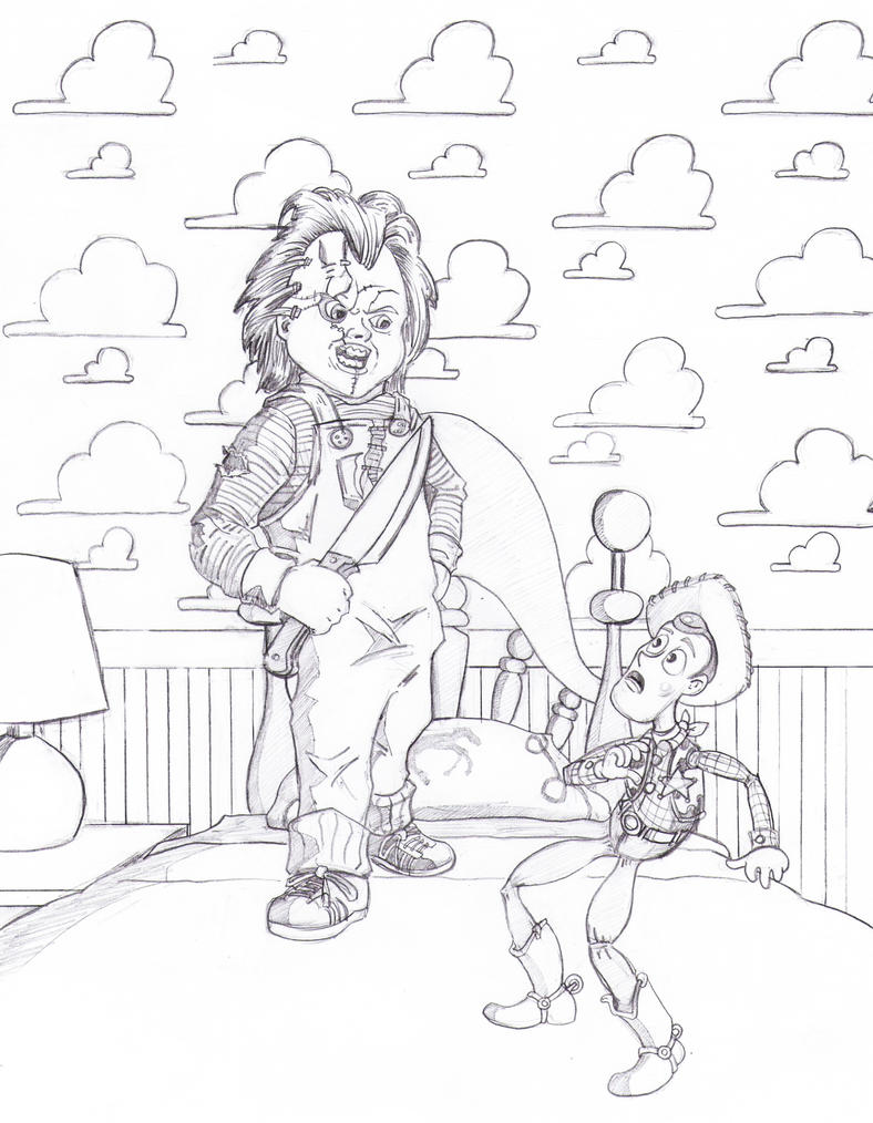 The gallery for killer chucky coloring pages for Chucky doll coloring pages