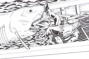 Jaws Death of Quint by greyfoxdie85