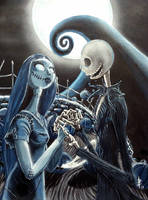 Jack and Sally by greyfoxdie85