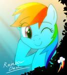 MLP: Rainbow Dash by DeannART