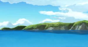 Ocean, Cliffs, and Sky