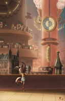 Clockwork Town by DeannART