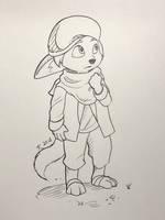 Fennec Fox Boy - Inktober 2018 by DeannART