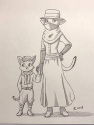 Mother and Child - Inktober 2018 by DeannART