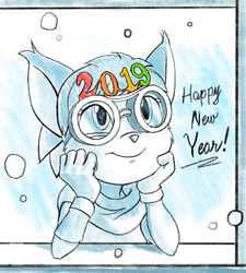 Happy New Year 2019 by DeannART