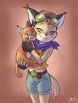 Caracal Kitty Hug