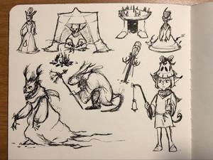 Random Sketches - Inktober 2019