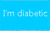 I'm Diabetic Stamp by Anastasia6710