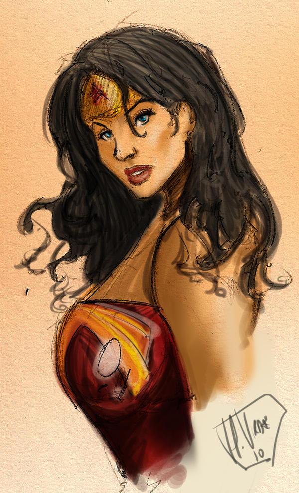 Wonder Woman Doodle by R3belli0n