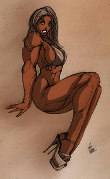 Muscle Pin Up III - Coloured