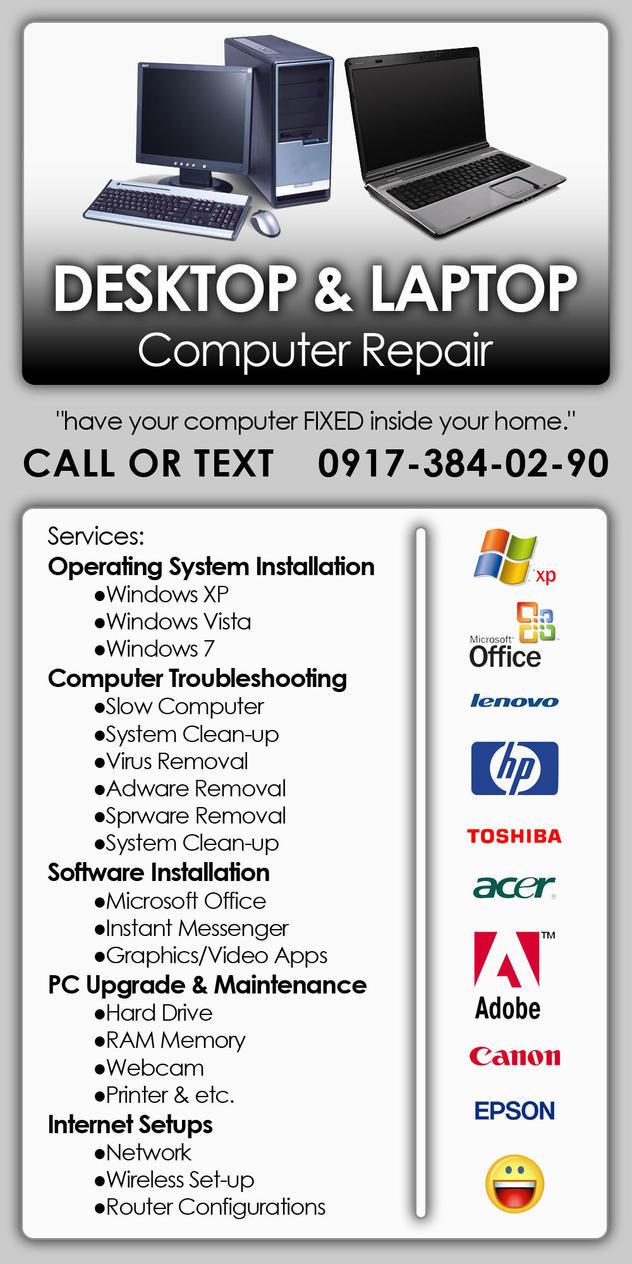 computer repairing advertisement