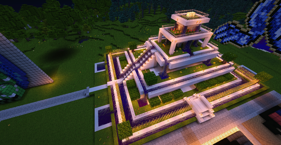 garden of babylon in minecraft by koyoi1