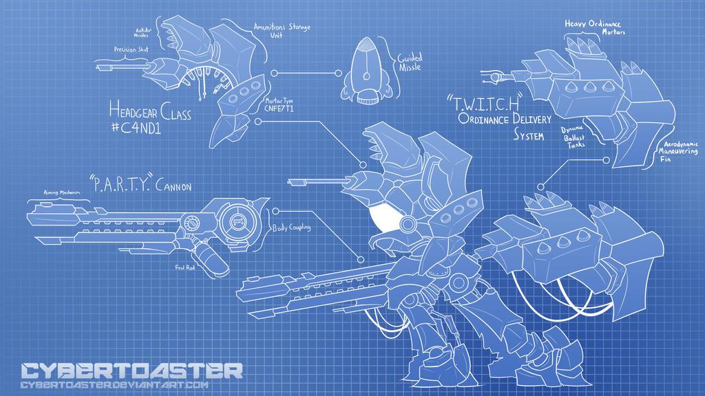 Pinkie Blueprint by CyberToaster