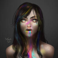 Rainbow - Speedpainting by MayOrnelas