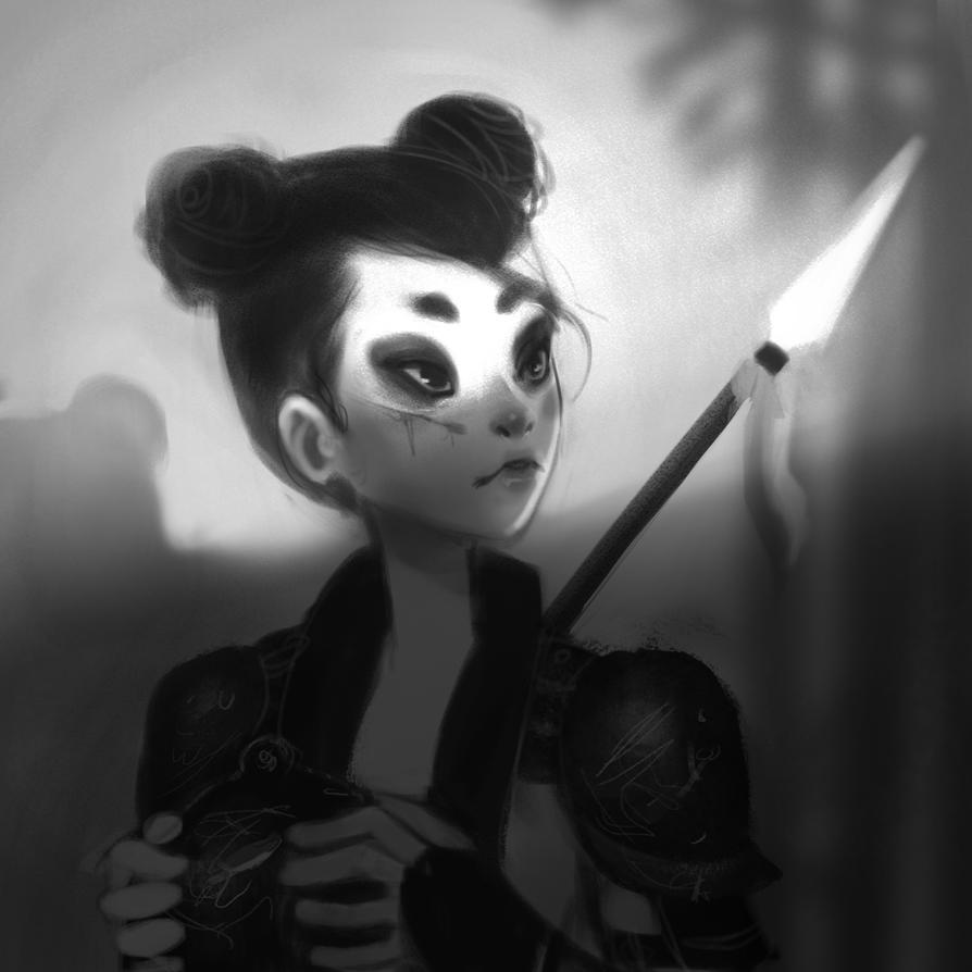 Panda knight | SpeedPainting by MayOrnelas