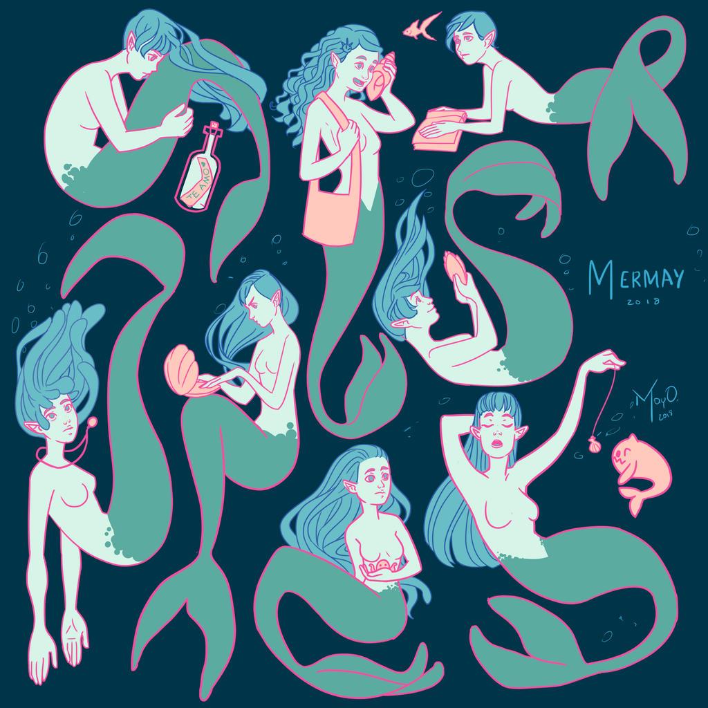 Mermaids by MayOrnelas