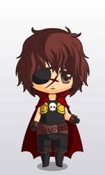 Chibi Harlock, the space pirate
