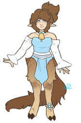 Satyr Sona - Lou Clothed Ref (outfit 1) by Tiny-Centaur
