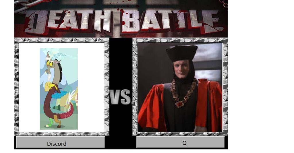 Discord vs. Q Death Battle Meme by JusSonic