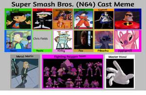 JusSonic's Smash Bros (N64) cast list