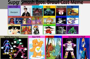 JusSonic's Super Smash Bros Brawl cast list