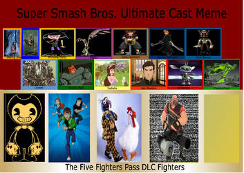 JusSonic's Super Smash Bros Ultimate cast list
