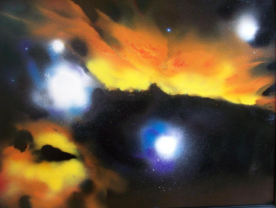 orion nebula by krazylilmeow