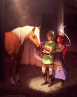 Link Meets Epona by jameszapata