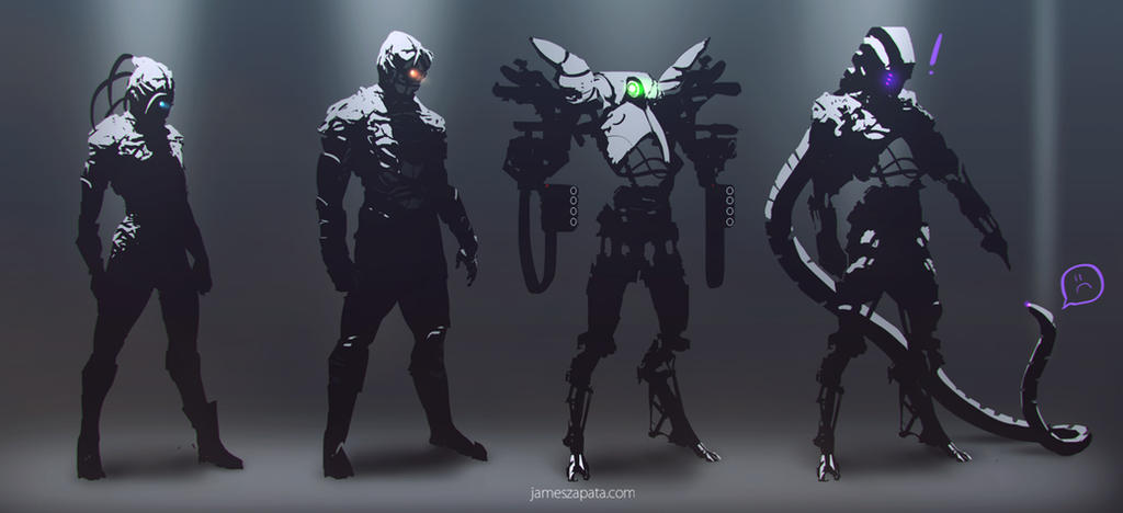 scifi concept sketches by jameszapata