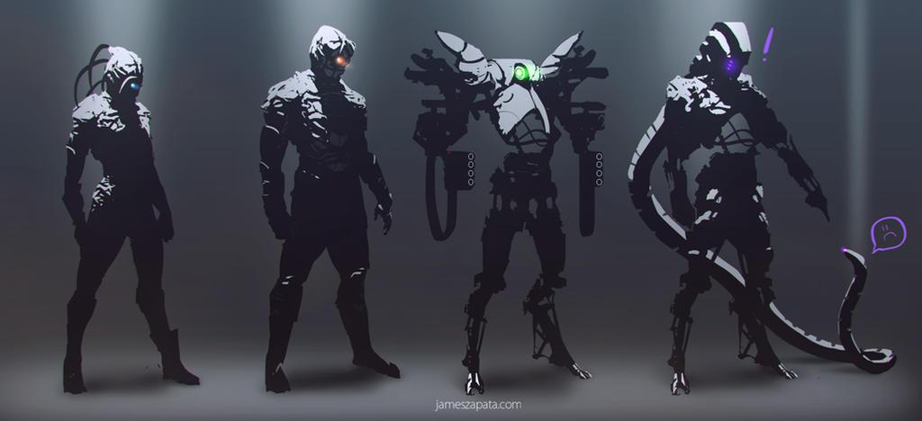 scifi concept sketches by jameszapata