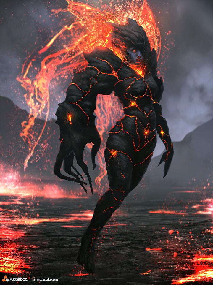 Demon Girl advanced - LOTC by jameszapata