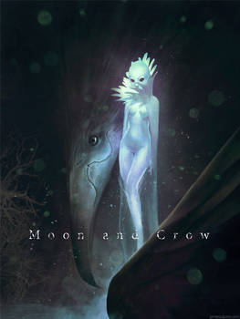 Moon and Crow