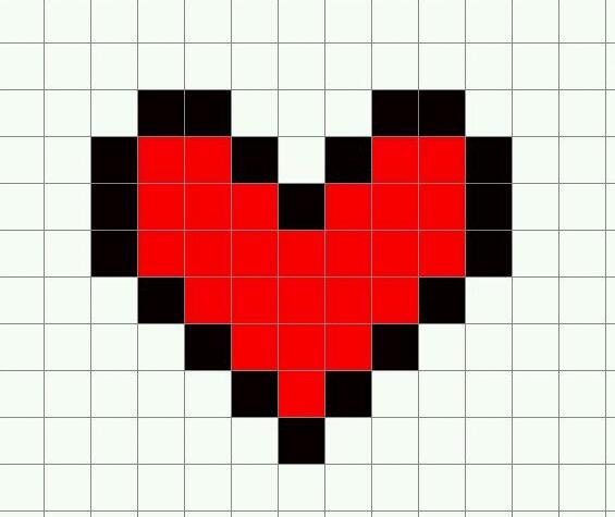 Minecraft template: Heart by EMOxDmon on DeviantArt