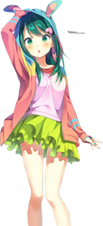 Kawaii Anime Render by MikuShooter