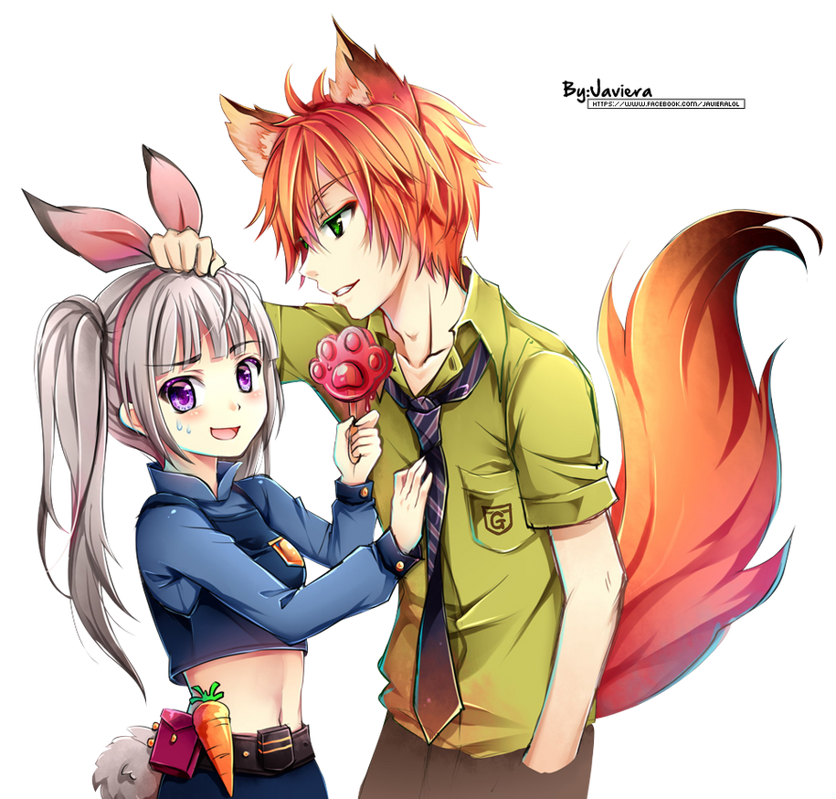 Zootopia Nick X Judy Ver Anime Render By MikuShooter
