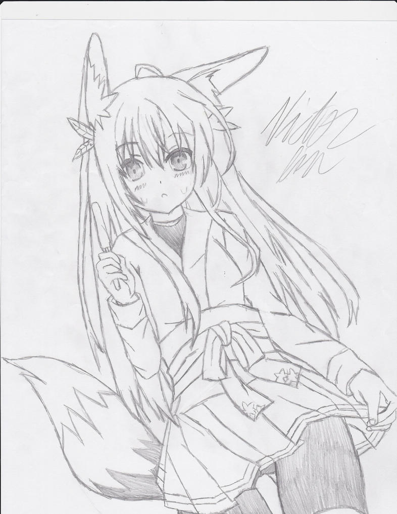 Fox Girl Drawing By Fadelesswolf On DeviantArt