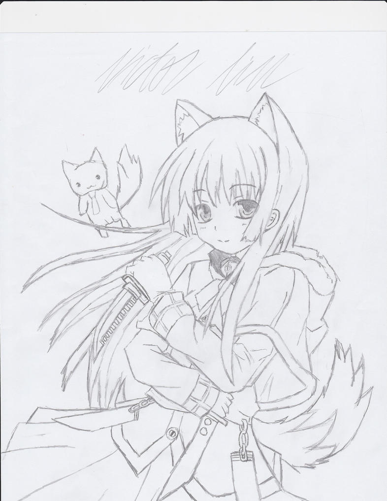 2010 How To Draw A Manga Wolf Girl Daggers By Fadelesswolf