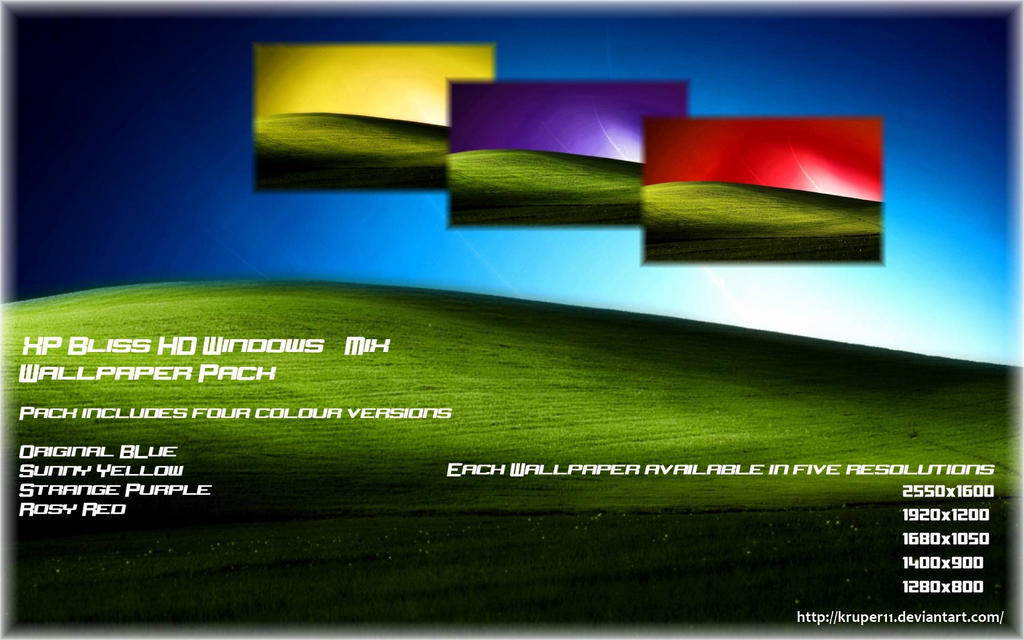 XP Bliss Win 7 Wallpaper Pack by Kruper11