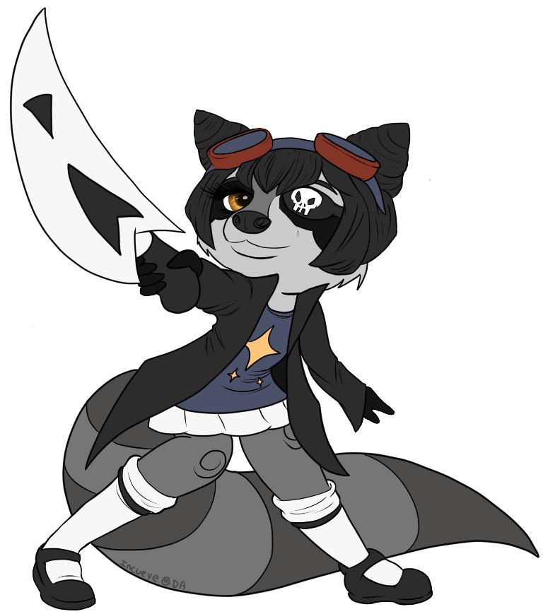 Space Pirate Raccoon by Incueye