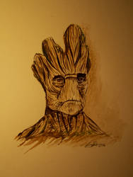Watercolor: Groot - Guardians Of The Galaxy