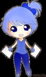 .::chibi girl blue colored::. by hikari-chan990