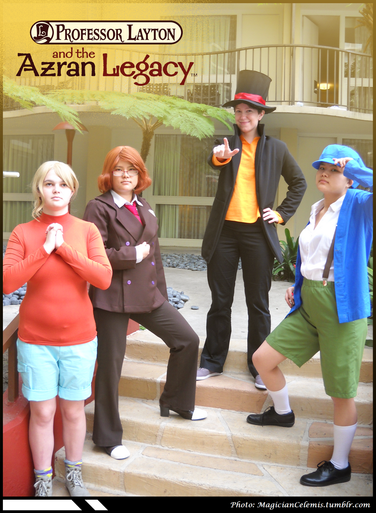 Professor Layton and the Azran Legacy COSPLAY by WannabeMagical
