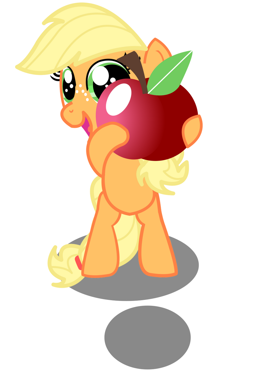 lil applejack has a present for ya by Coltsteelstallion